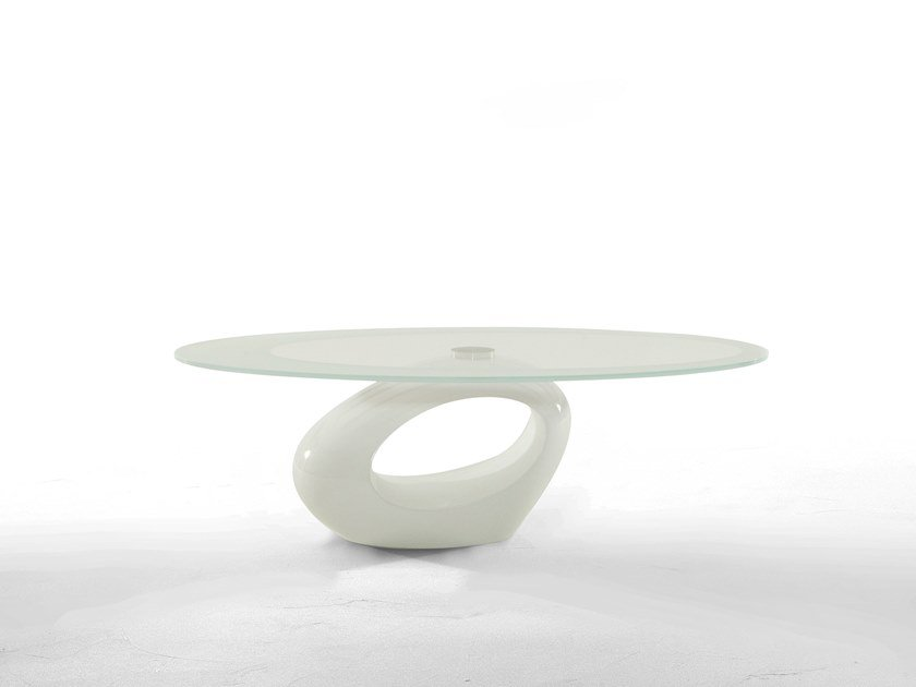Low oval coffee table DUBAI by Tonin Casa