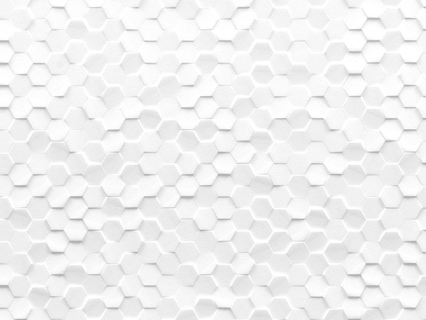 3D Wall Cladding with metal effect DUBAI WHITE by Venis