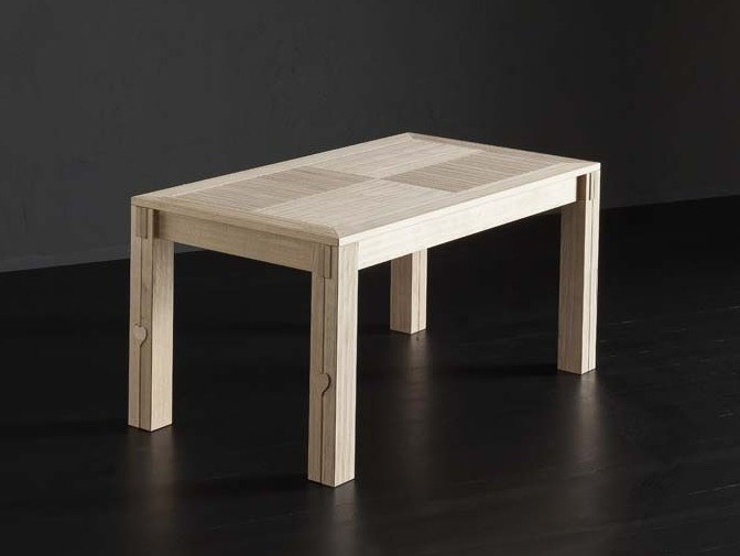 Extending rectangular oak table DUBLINO by AltaCorte