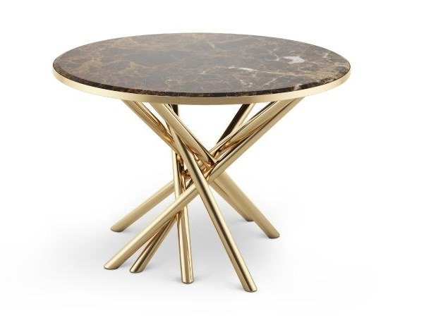 Round marble high side table DUCHESS | Round coffee table by Malabar