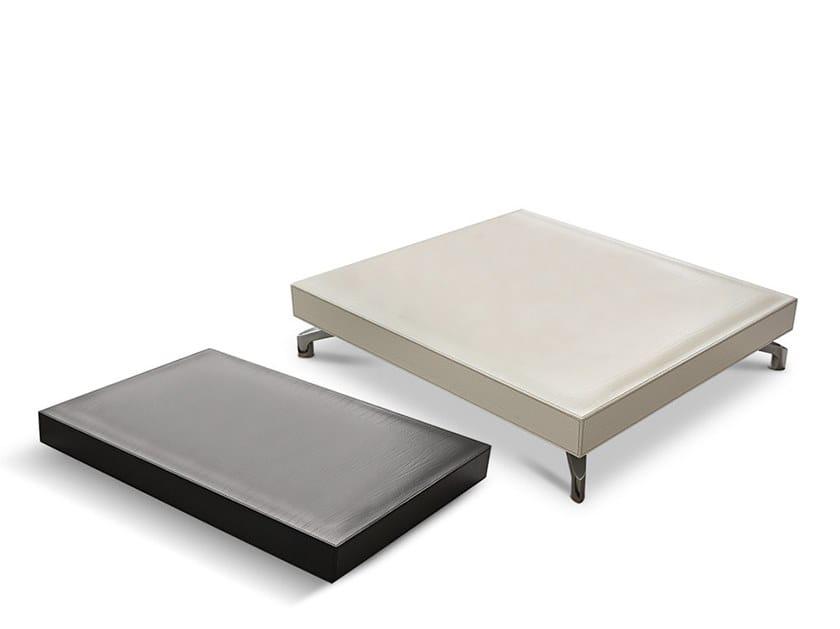 Tavolino basso da caffè in pelle DUDE | Tavolino in pelle by Dema