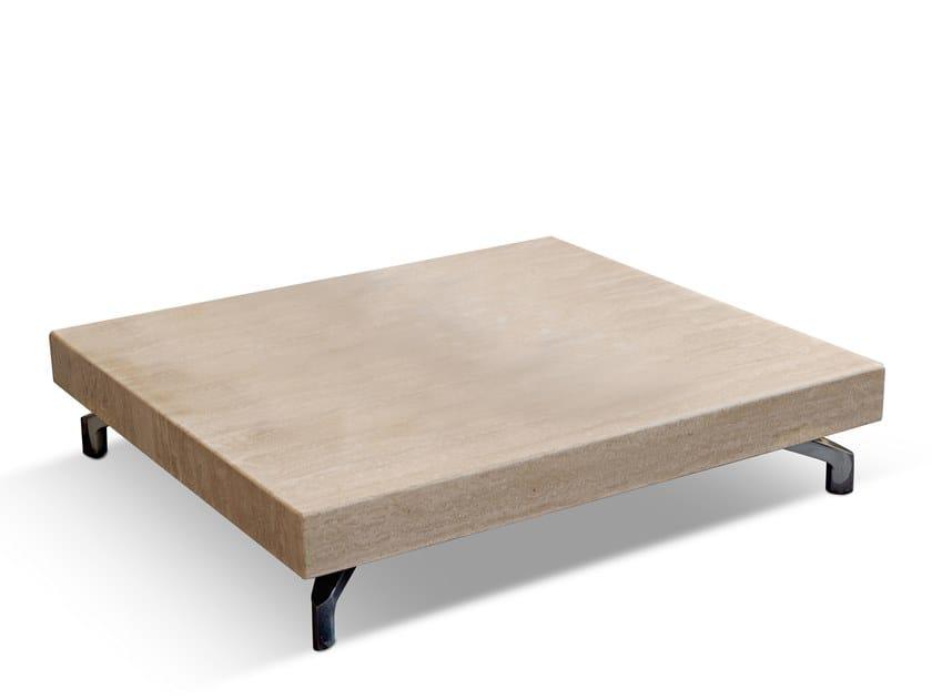 Tavolino da caffè in travertino DUDE | Tavolino in travertino by Dema