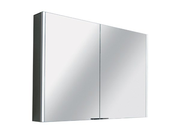 Mirror with cabinet with integrated lighting DUE / DUE+ by INDA®