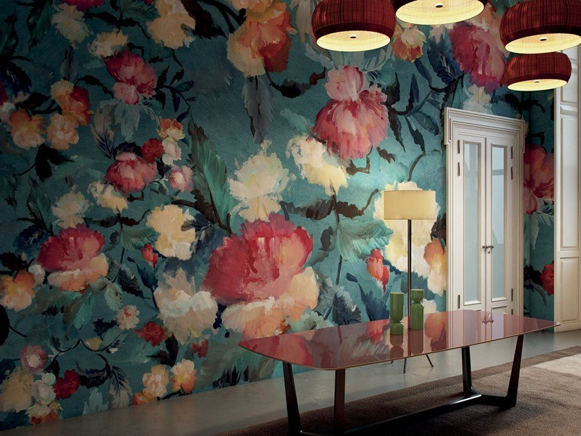 Wallpaper with floral pattern DUENDE by GLAMORA