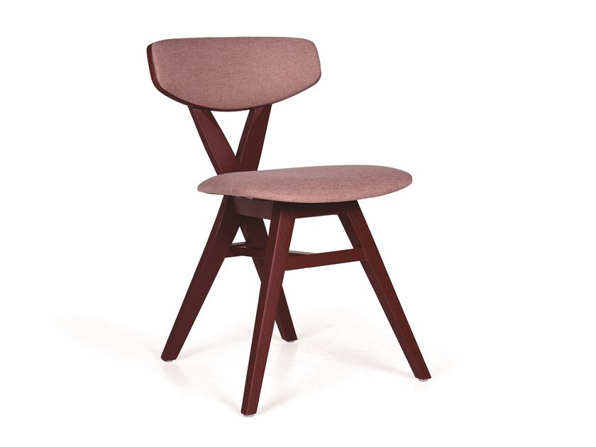 Upholstered wooden chair DUETO EST TP by Fenabel