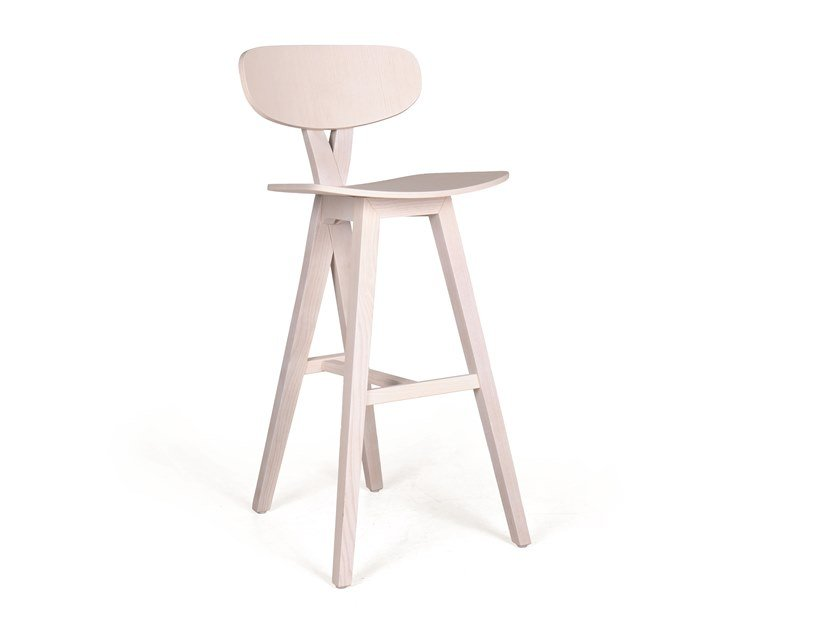 Wooden barstool DUETO PL BAR by Fenabel