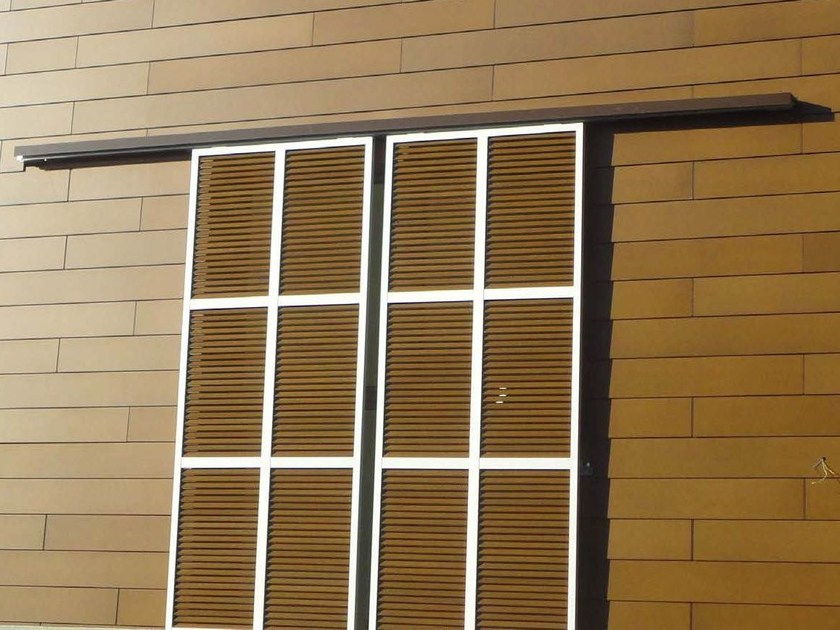 Aluminium sliding shutter with fixed louvers DUFIX 50OV   Sliding shutter by INDÚSTRIAS DURMI