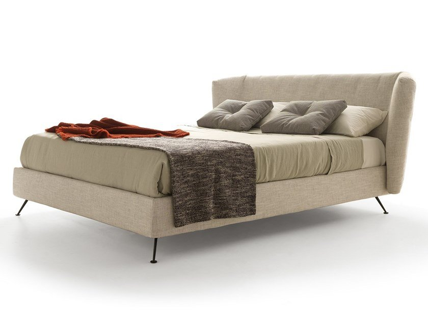 Upholstered fabric storage bed DUKE   Storage bed by VALENTINI