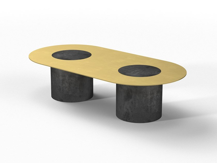 Low cement coffee table DUMBO DOPPIO by Forma&Cemento