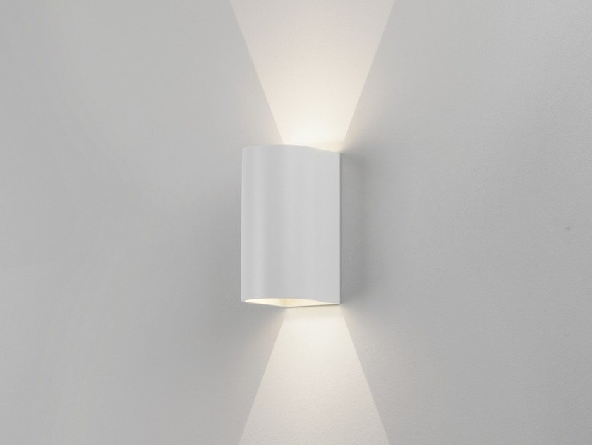 LED direct-indirect light aluminium wall lamp DUNBAR 160 by Astro Lighting
