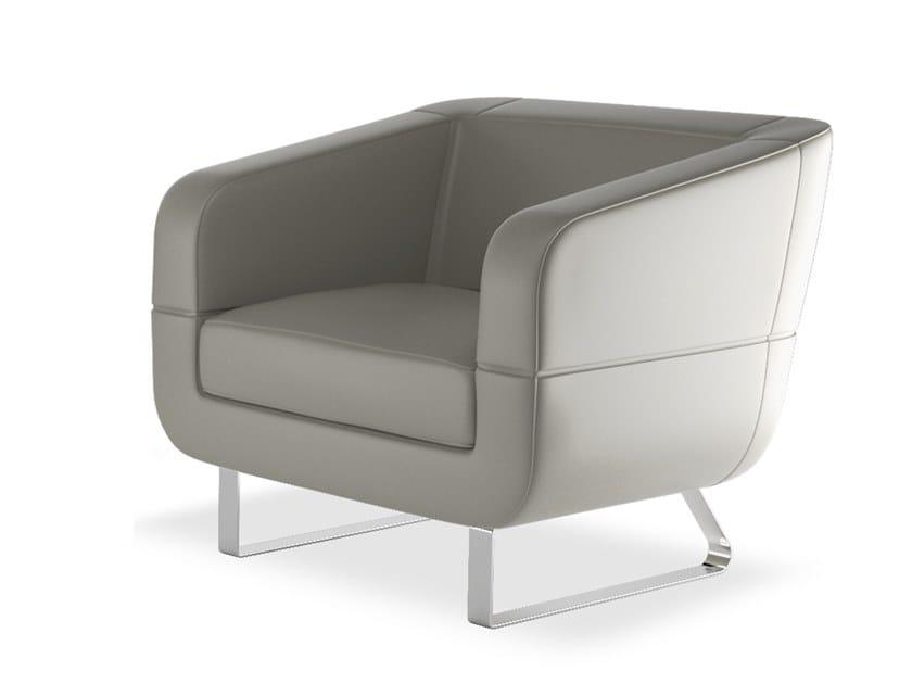 Sled base leather armchair DUNE | Leather armchair by ESTEL GROUP