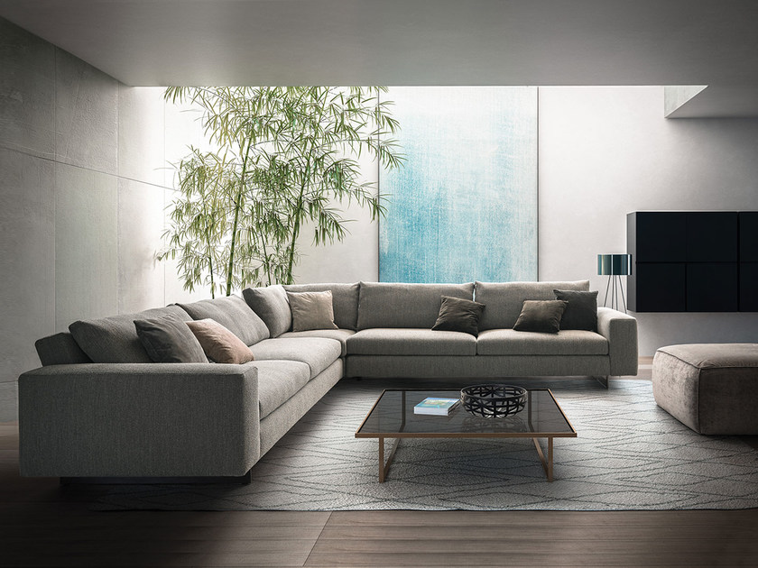 Corner fabric sofa DUO | Corner sofa by PIANCA