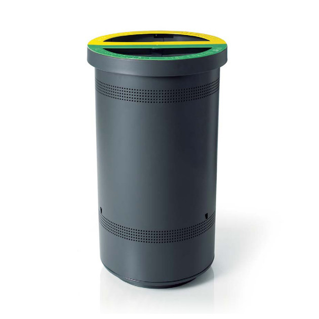 Litter bin for waste sorting DUO by LAB23