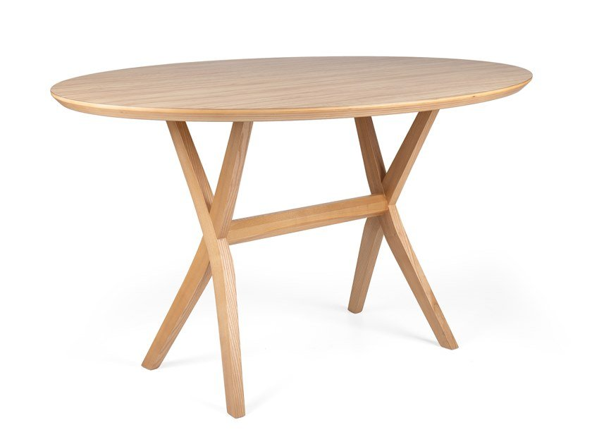 Oval wooden dining table DUO OVAL by Fenabel