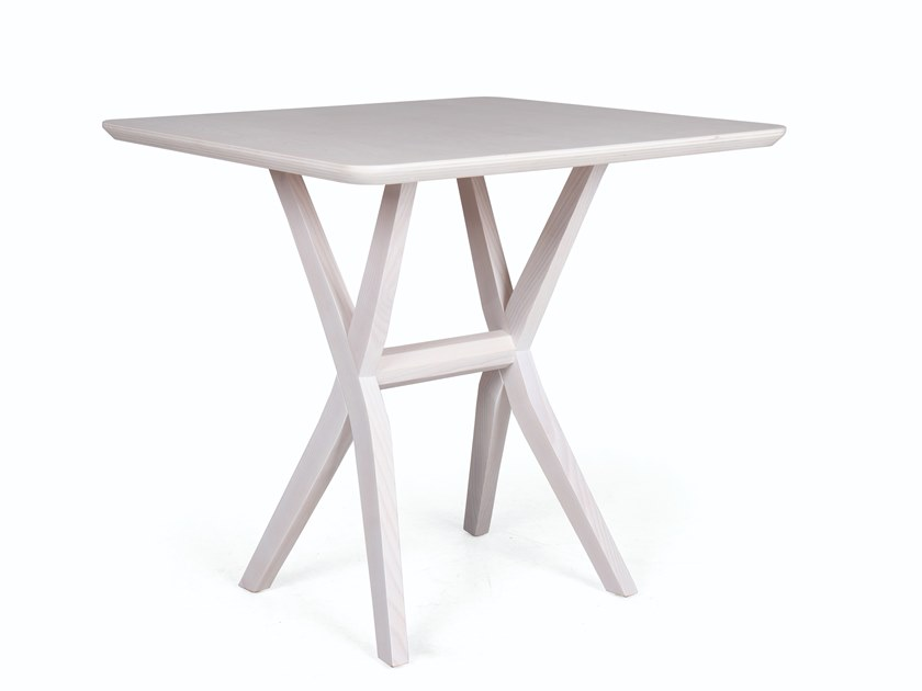 Square wooden dining table DUO QUAD by Fenabel