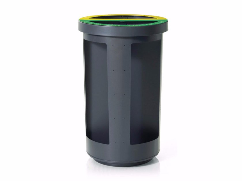Litter bin for waste sorting DUO SECURITY by LAB23