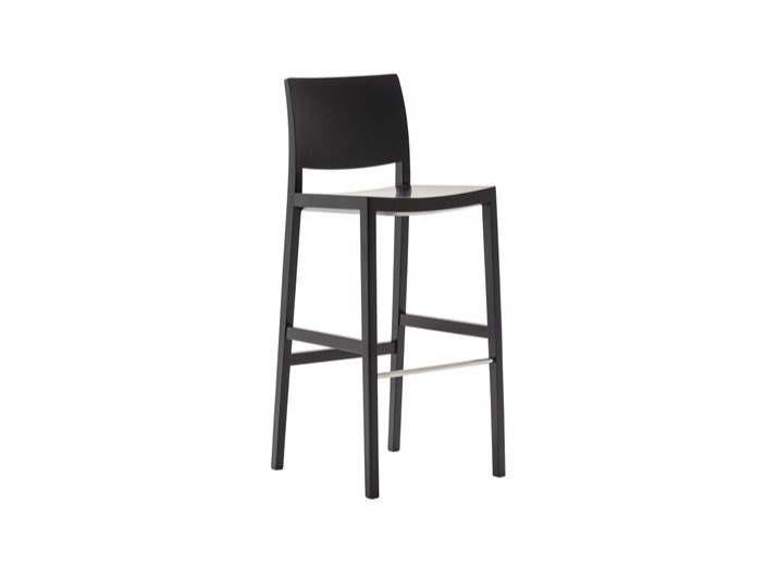 High wooden barstool DUOS BQ2756 by Andreu World