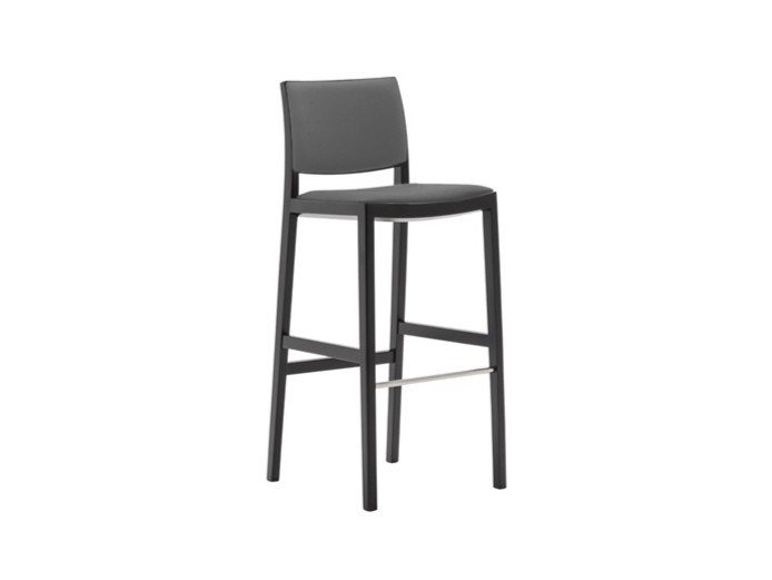 High upholstered barstool DUOS BQ2760 by Andreu World