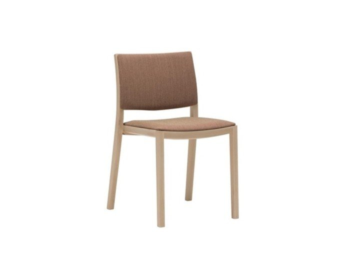Upholstered wooden chair DUOS SI2752 by Andreu World