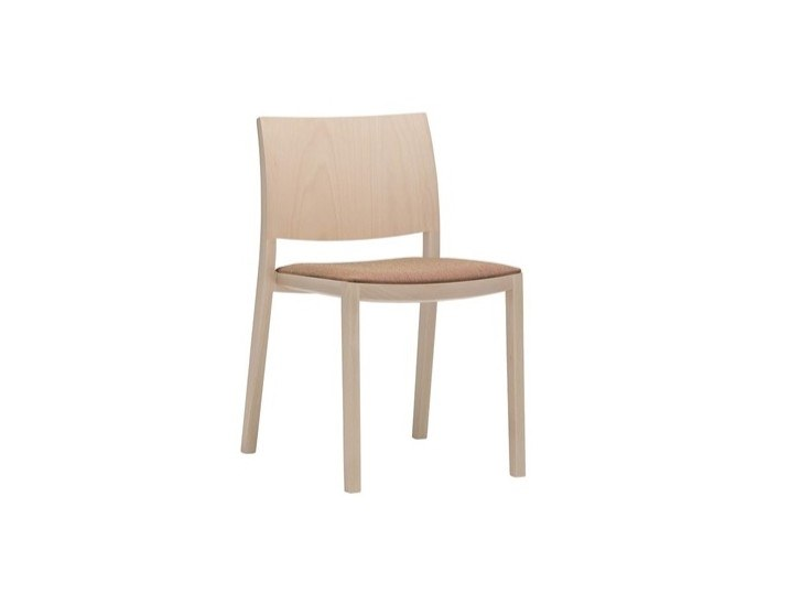 Wooden chair with integrated cushion DUOS SI2754 by Andreu World