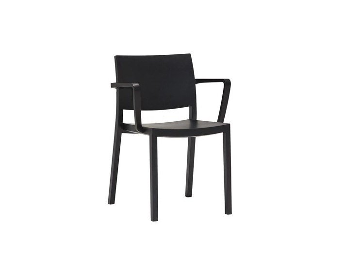 Wooden chair with armrests DUOS SO2751 by Andreu World