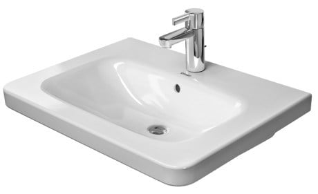 Rectangular washbasin with overflow DURASTYLE | Washbasin by Duravit