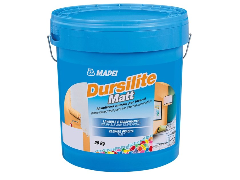 Breathable water-based paint DURSILITE MATT by MAPEI