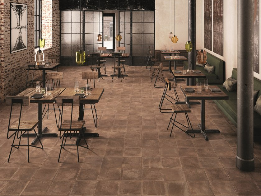 Porcelain stoneware wall/floor tiles with stone effect DUST RUST by Provenza by Emilgroup