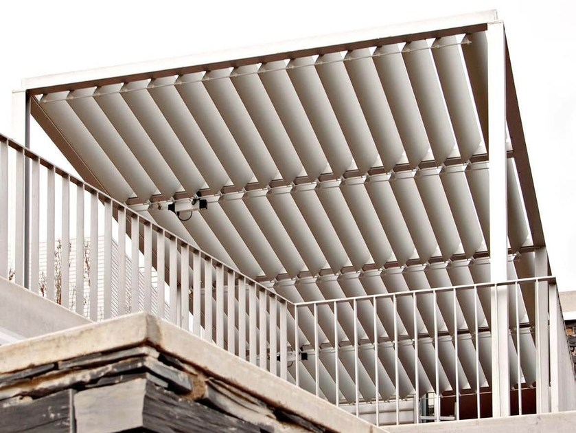 Adjustable aluminium solar shading DUTEC 210E by INDÚSTRIAS DURMI