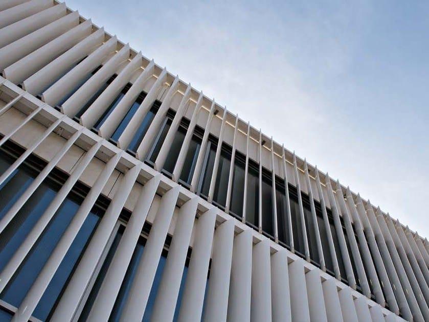 Adjustable aluminium solar shading DUTEC 315E by INDÚSTRIAS DURMI