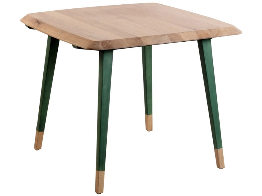 Square wooden table DVOJI | Square table by ALANKARAM