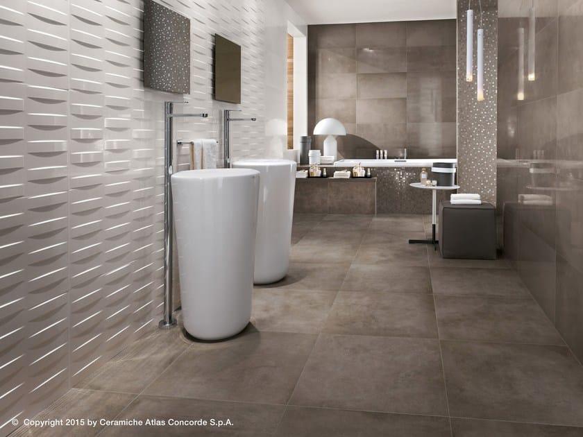 Dwell wall rivestimento tridimensionale in ceramica a pasta bianca collezione dwell by atlas - Atlas concorde bagno ...