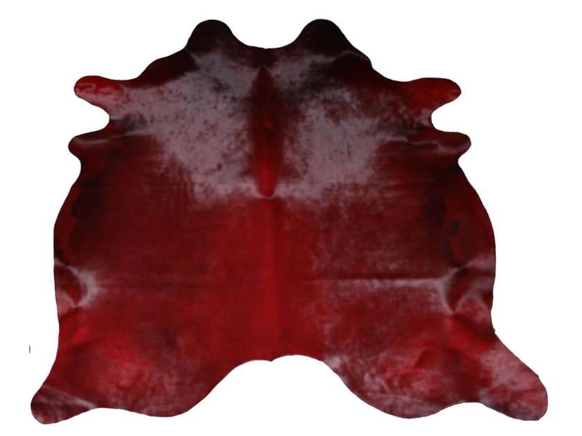Cowhide rug DYED COWHIDES BORDEAUX by EBRU