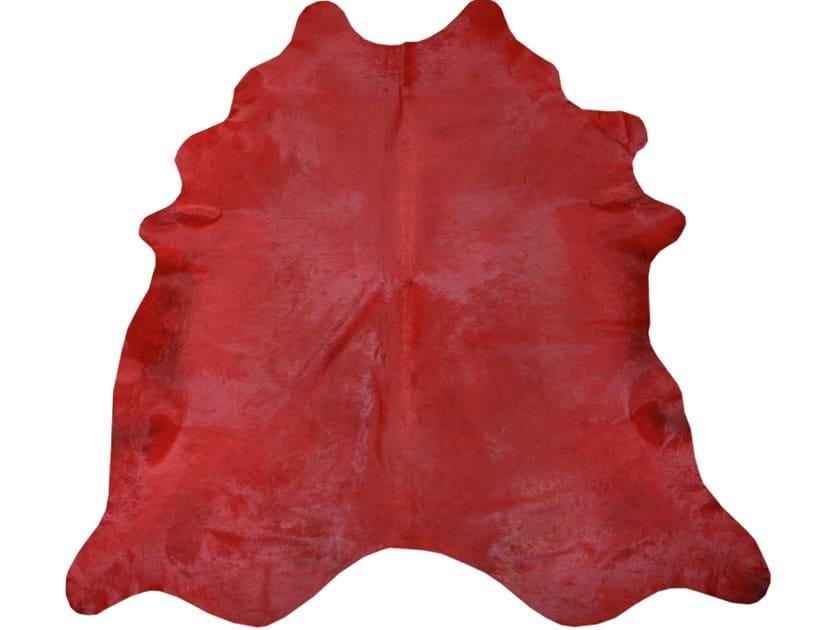 Cowhide rug DYED COWHIDES RED by EBRU