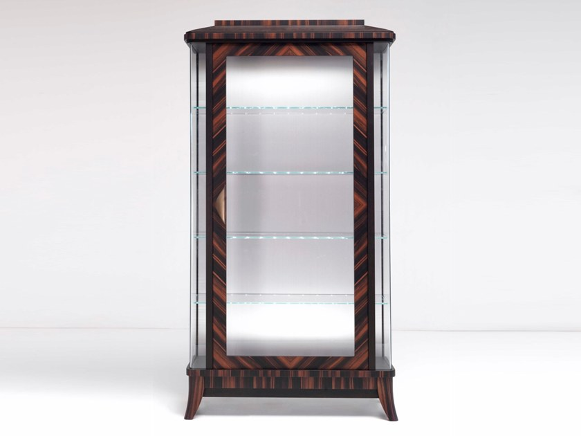 Wood and glass display cabinet E 1585 | Display cabinet by Annibale Colombo