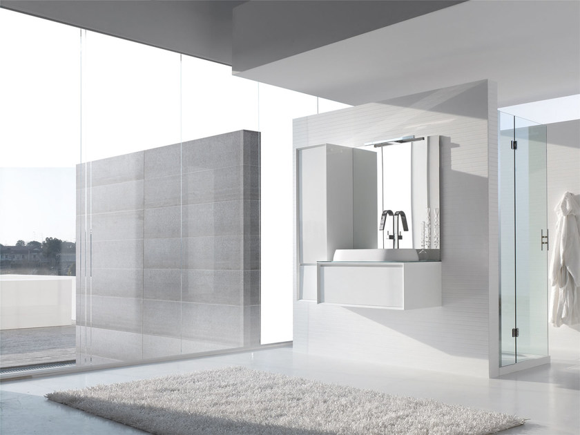Sistema bagno componibile E.45 COMPOSIZIONE 4 by Arcom