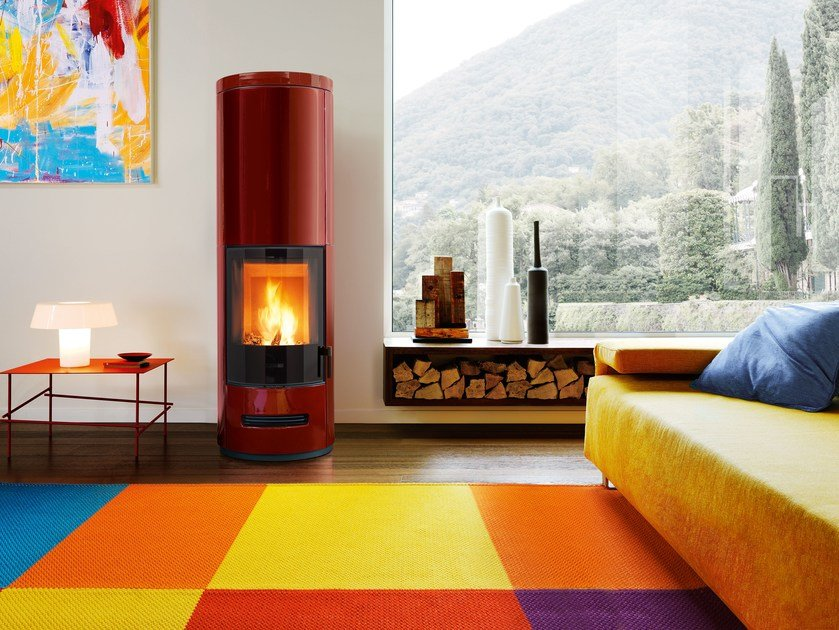Wood-burning stove E 929 MH | Wood-burning stove by Piazzetta
