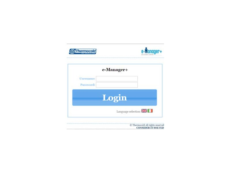 Software for home and building automation e-Manager+ by Thermocold