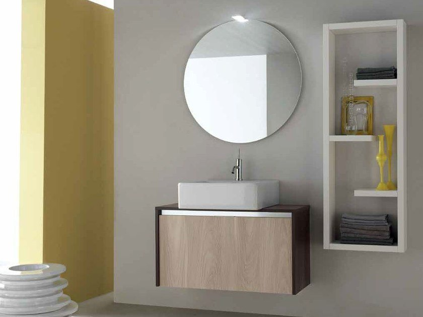 Wooden bathroom cabinet / vanity unit E.GÒ - COMPOSITION 13 by Arcom