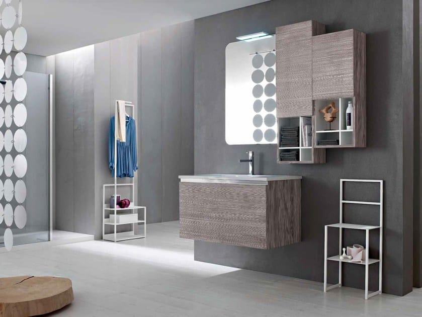 Wooden bathroom cabinet / vanity unit E.GÒ - COMPOSITION 28 by Arcom