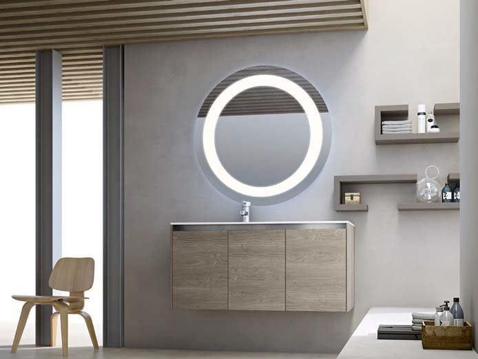 Single wooden vanity unit E.GÒ - COMPOSITION 34 by Arcom