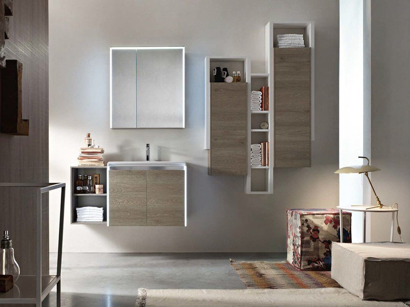Wooden bathroom cabinet / vanity unit E.GÒ - COMPOSITION 36 by Arcom