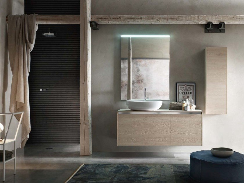 Wooden bathroom cabinet / vanity unit E.GÒ - COMPOSITION 39 by Arcom