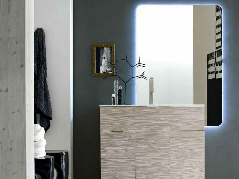 Single wooden vanity unit E.LY - COMPOSITION 46 by Arcom