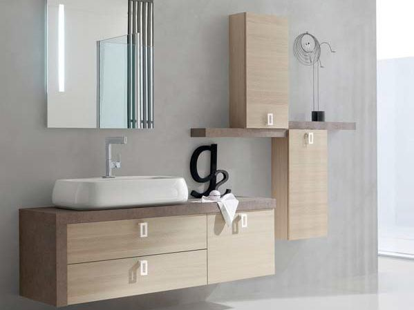 Larch bathroom cabinet / vanity unit E.LY - COMPOSITION 12 by Arcom