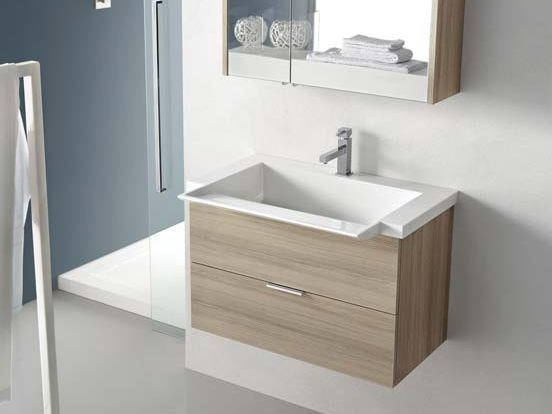 Single larch vanity unit E.LY - COMPOSITION 17 by Arcom