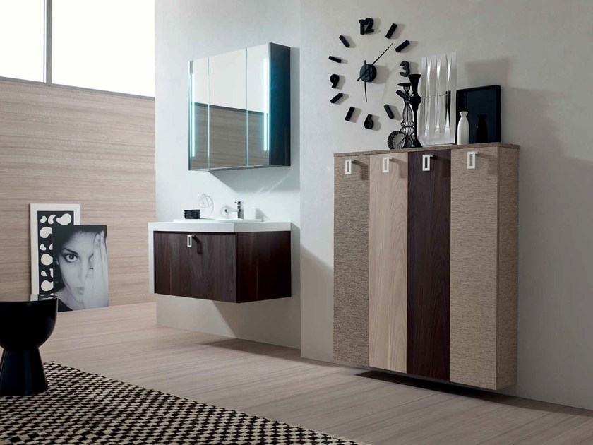 Wooden bathroom cabinet / vanity unit E.LY - COMPOSITION 18 by Arcom
