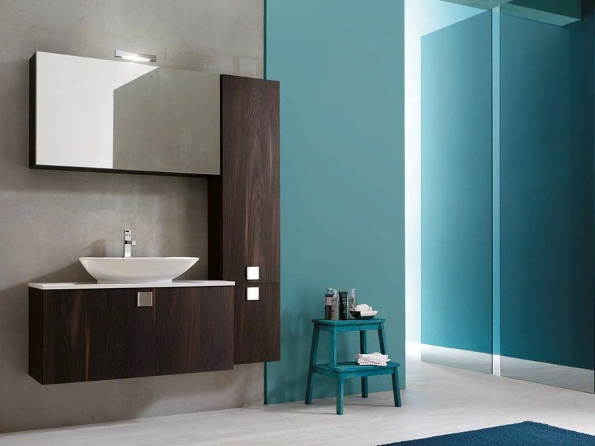 Single wooden vanity unit E.LY - COMPOSITION 19 by Arcom