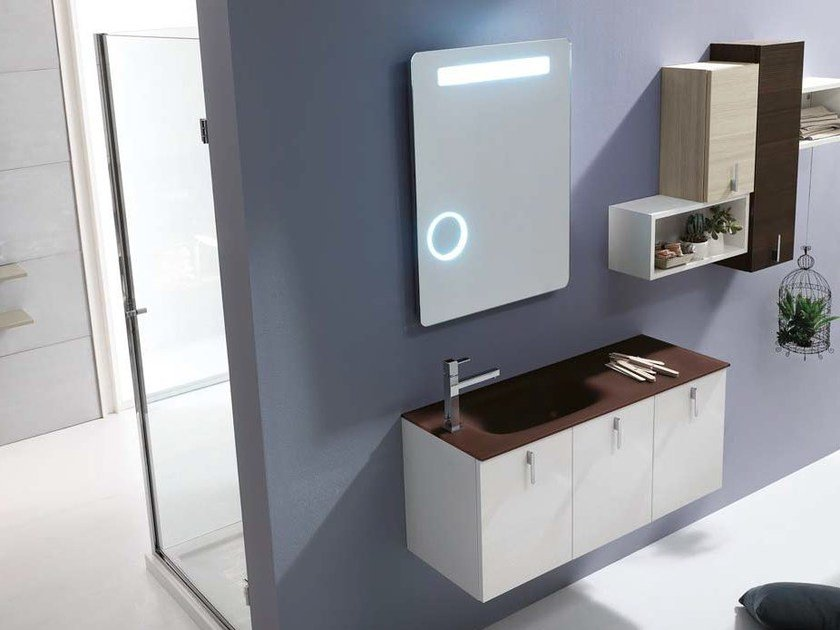 Larch bathroom cabinet / vanity unit E.LY - COMPOSITION 34 by Arcom