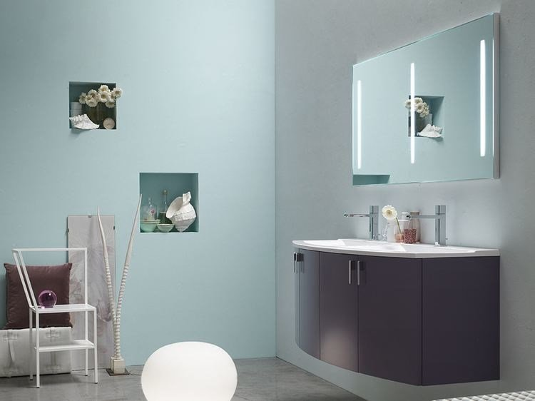 Double lacquered vanity unit E.LY - COMPOSITION 53 by Arcom